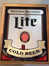 MILLER BREWING COMPANY LITE BAR MIRROR