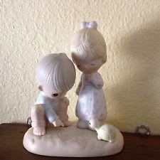 PRECIOUS MOMENTS Collectible Plate/Figurine THOU ART MINE