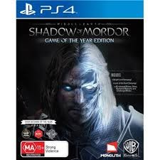 SONY Sony PlayStation 4 Game MIDDLE EARTH SHADOW OF MORDOR GAME OF THE YEAR ED.