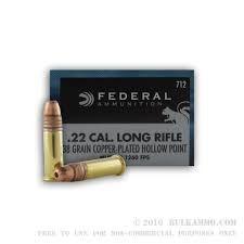 FEDERAL AMMUNITION Ammunition 22LR 38GR CPHP