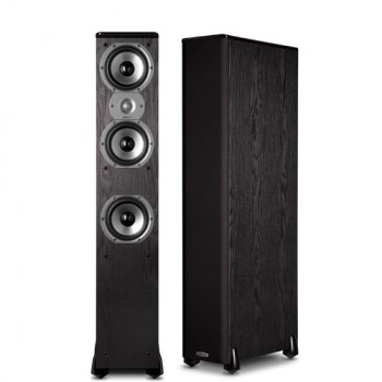 Polk Audio TSi400 BLACK Floorstanding Tower Speakers PAIR