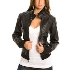 GUESS Coat/Jacket LADIES LEATHER JACKET