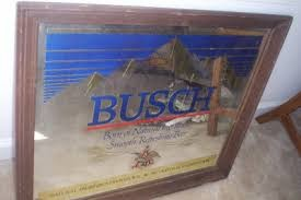 BUSCH BEER Miscellaneous Furniture MIRRORED BEER SIGN