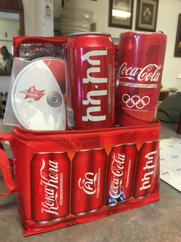 COCA COLA Sports Memorabilia 2008 OLYMPIC COOLER