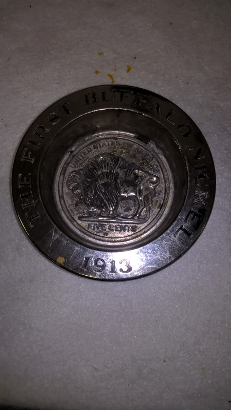 AVON BUFFALO NICKLE ASHTRAY