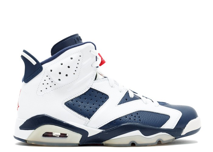 "NIKE AIR JORDAN 6 RETRO ""OLYMPIC 2012 RELEASE"""