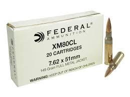 FEDERAL AMMUNITION Ammunition XM80CL