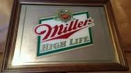 MILLER BREWING COMPANY Sign MIRROR SIGN