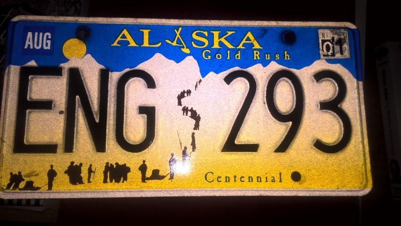 ALASKA VEHICLE TAGS