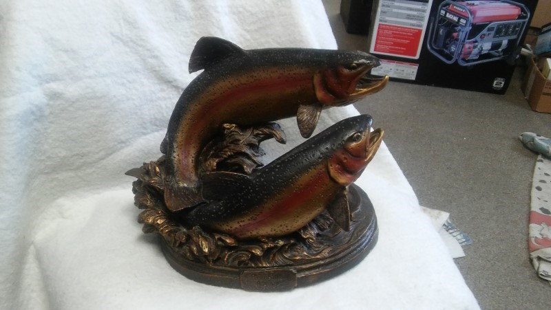 BIG SKY CARVERS Sculpture/Carving RAINBOW TROUT SCULPTURE