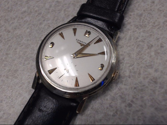 LONGINES VINTAGE 14K MENS WRISTWATCH