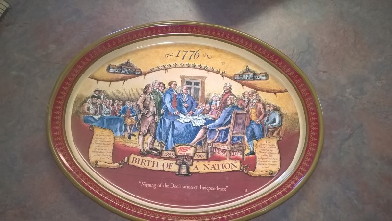 MILLER BREWING COMPANY BIRTH OF A NATION TRAY