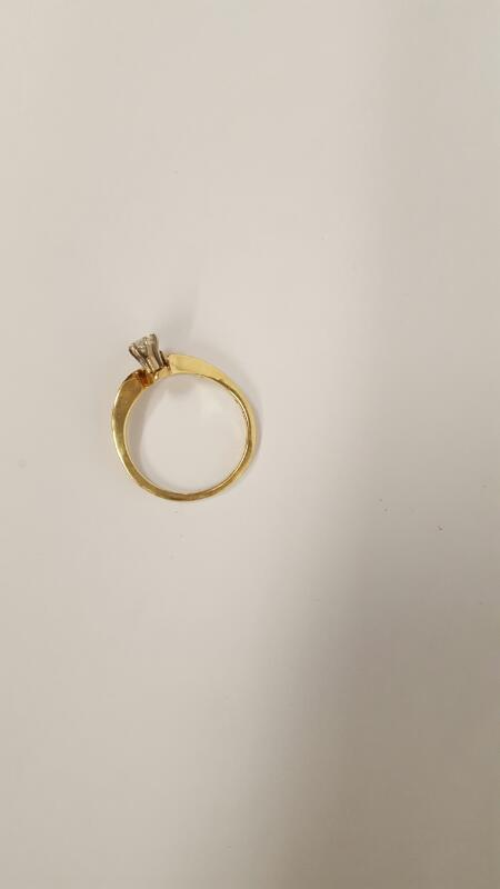 Lady's Diamond Fashion Ring 2 Diamonds .35 Carat T.W. 14K Yellow Gold 3.48g