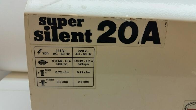 SILENT AIRE SUPER SILENT AIR COMPRESSOR 20A]
