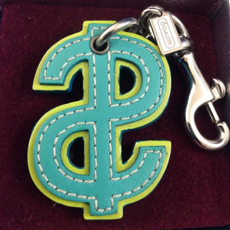 COACH Keychain DOLLAR SIGN KEYCHAIN