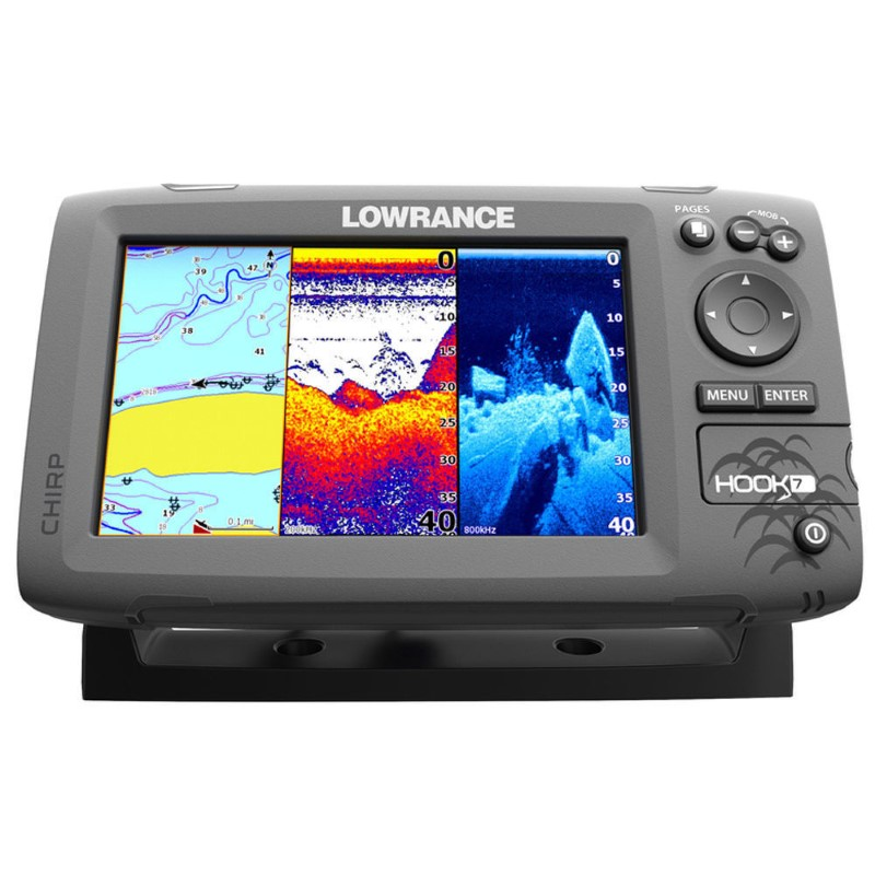 Lowrance Hook-7 Base Mid/High/DownScan Fishfnder-Chartplotter
