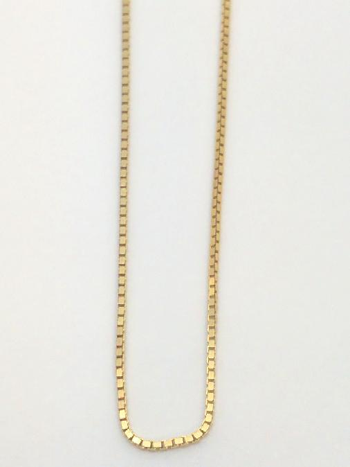 "20"" Gold Box Chain 14K Yellow Gold 2.2g"