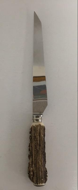 ANTON WINGEN JR SOLIGEN 3 PIECE CARVING SET. INCLUDES KNIFE, FORK AND SHARPENER.