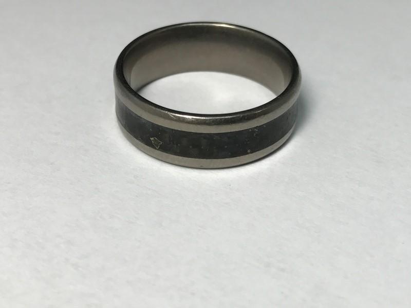 Gent's Ring Silver Tungsten 3.2g