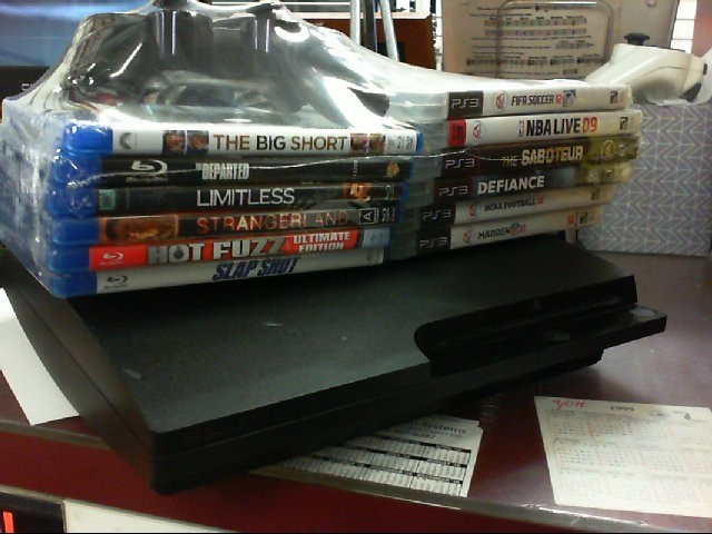 SONY PlayStation 3 With 6 games and blu rays- SYSTEM  - 160GB - CECH-3001A