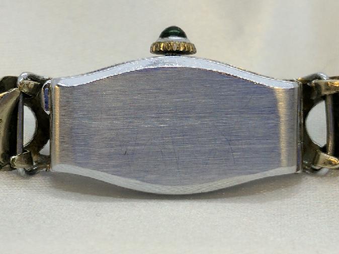 BULOVA Lady's Wristwatch Art Deco with Emeralds & Diamonds