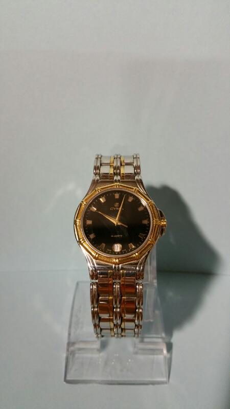 CYMA Gent's Wristwatch GOLD BEZEL WATCH