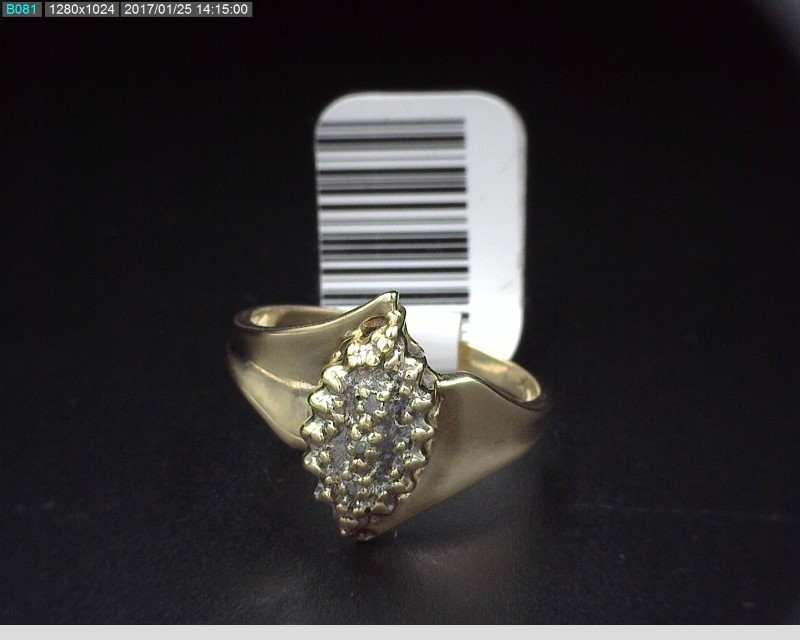 LADY'S CLUSTER RING APX.03CTW 10KYG 3.1G SZ.7