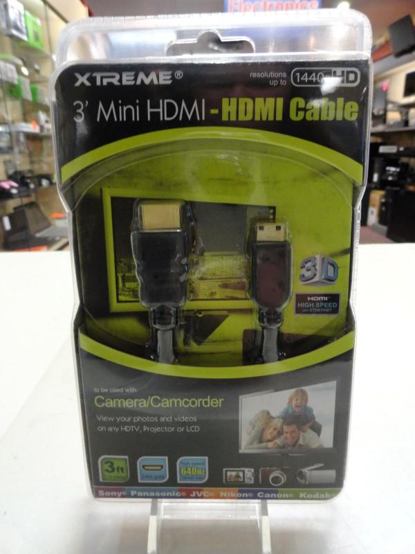 Xtreme 74003 3' Mini HDMI to HDMI Cable