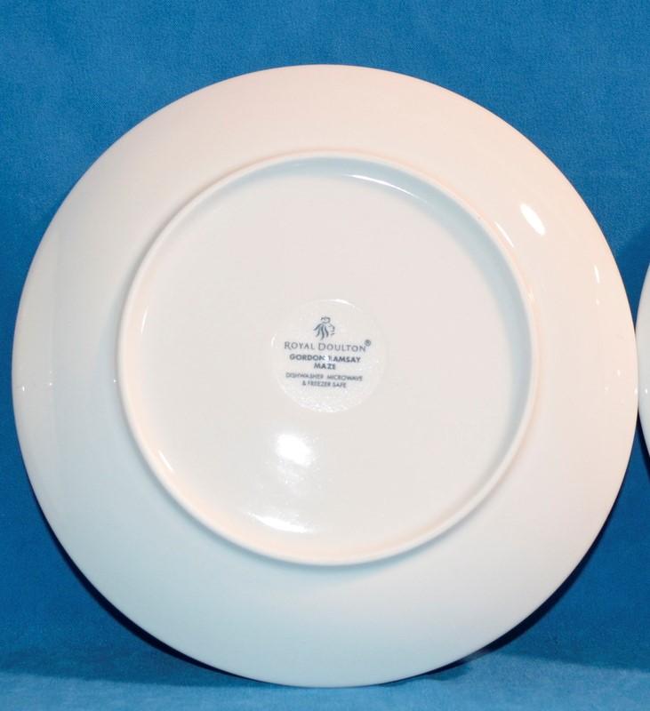 GORDON RAMSAY MAZE BY ROYAL DOLTON 4 PIECE PLATE SET