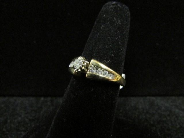 Lady's Diamond Fashion Ring 9 Diamonds 0.28 Carat T.W. 14K Yellow Gold 4.2g