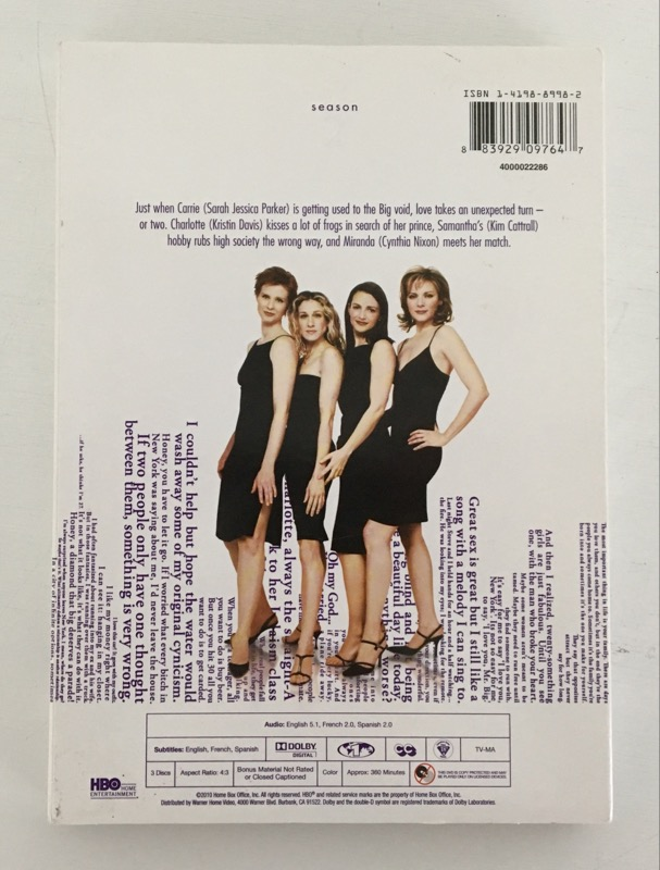 DVD BOX SET SEX AND THE CITY S2