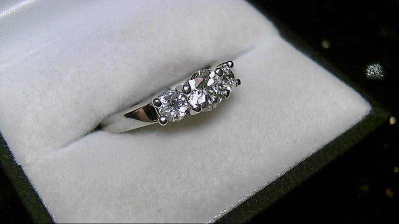 Brilliant Round Cut Diamond 14K White Gold Anniversary Ring