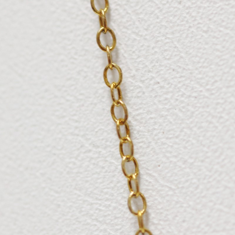 "18"" Gold Colored Sterling Silver Chain"