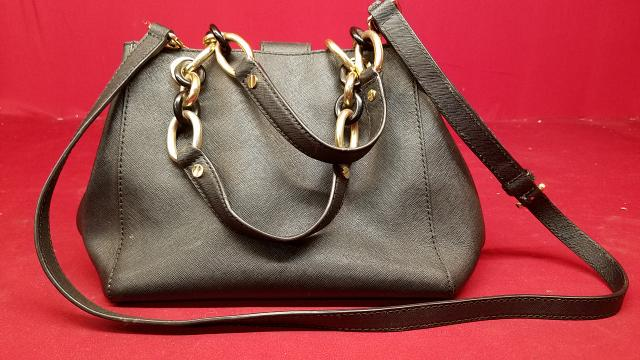 7c6225c49c76 MICHAEL KORS Black Saffiano Leather Cynthia Satchel Handbag Very ...