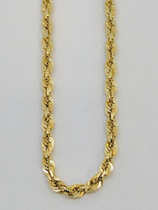"""24"""" Gold Rope Chain 14K Yellow Gold 14g"""