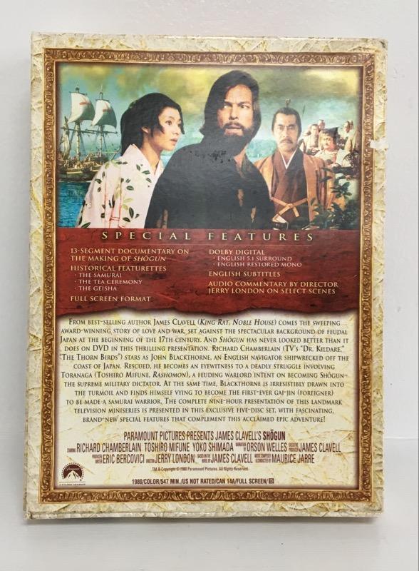 SHOGUN MINI-SERIES COLLECTION DVD USA COMPLETE IN BOX 5 DISC SET