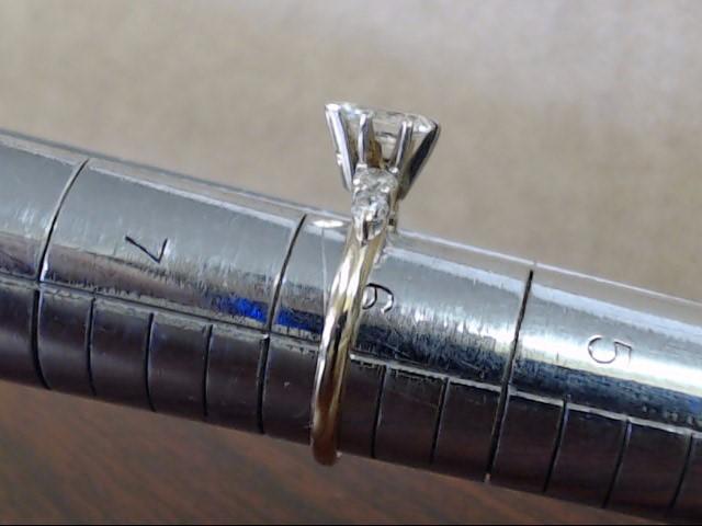 ESTATE PEAR CUT NATURAL DIAMOND ENGAGEMENT WED RING 14K GOLD SZ 5.75