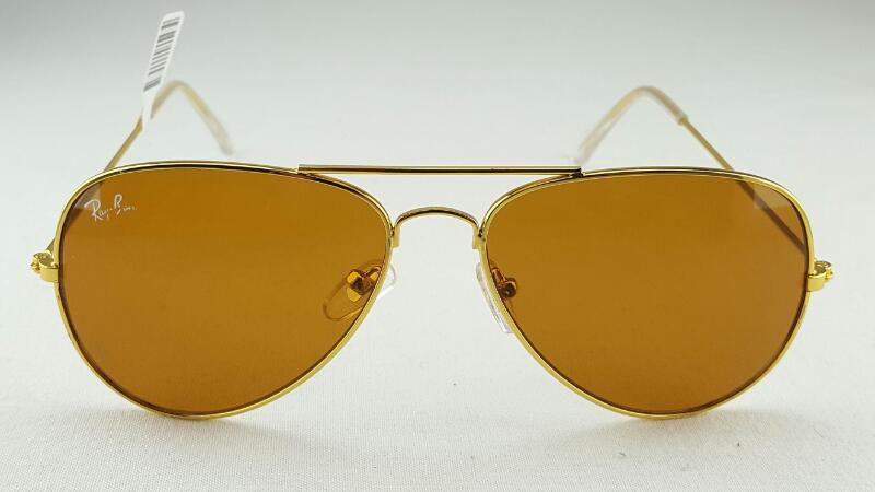 RAY-BAN RB3025 58-14 Gold/Brown Sunglasses w/Case