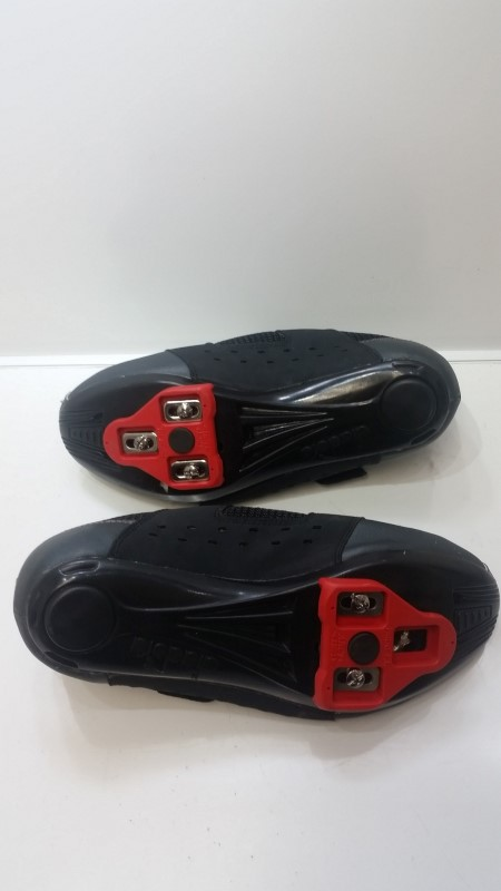 Women's Diadora Black & Red Double Velcro ARC1+ Road Bicycle Cycling Shoes sz 8