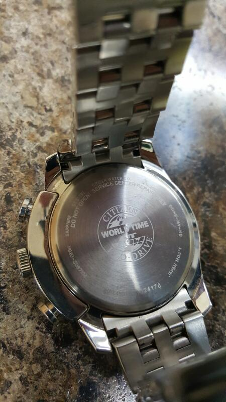 Citizen Eco-Drive H820-S087104  Mens Radio Control World Time Watch Sapphire