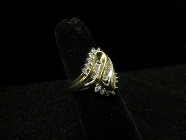 Lady's Diamond Fashion Ring 37 Diamonds .90 Carat T.W. 10K Yellow Gold 5.3g