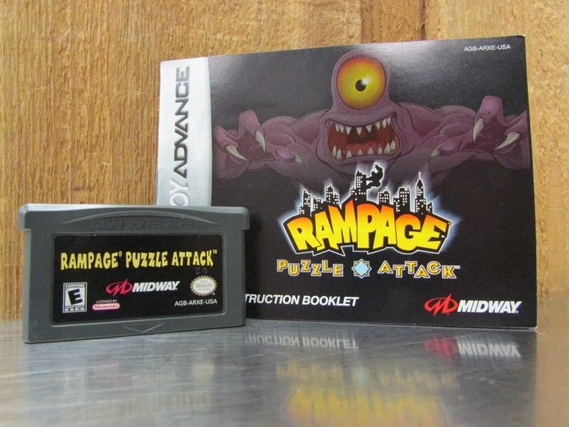 NINTENDO Nintendo GBA RAMPAGE PUZZLE ATTACK
