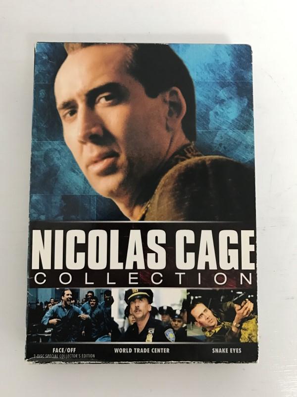 DVD NICOLAS CAGE COLLECTION WIDESCREEN SNAKE EYES, FACE/OFF, WORLD TRADE CENTER