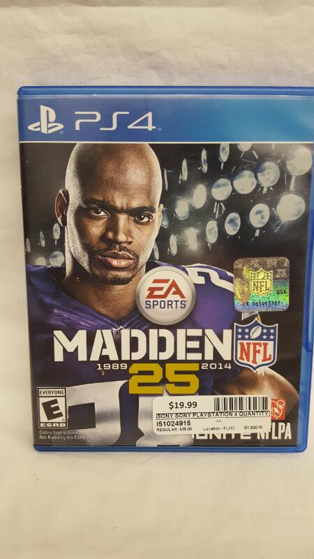 SONY PLAYSTATION 4 GAME MADDEN NFL 25