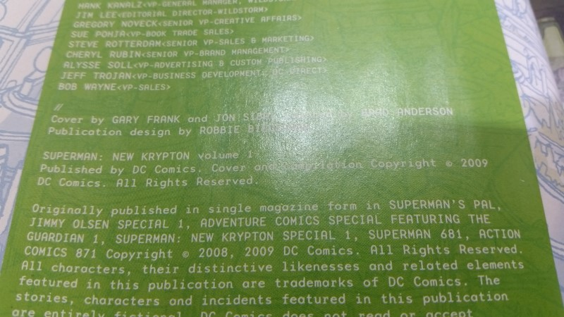 Superman: New Krypton Volume One 1 by Johns & Robinson 2009 Hard Back Cover