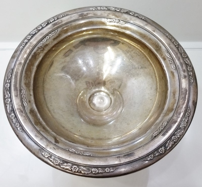 Courtship by International Silver Sterling Weighted Round Compote 11440 NO MONO