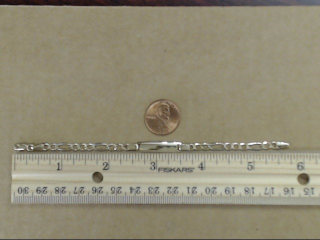 CHILD BABY ID ENGRAVABLE FIGARO BRACELET REAL 14k TRI TONE GOLD 3.6g