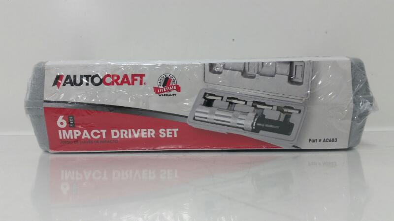 *NEW* Autocraft AC683 6pc Hand Manual Impact Driver Set