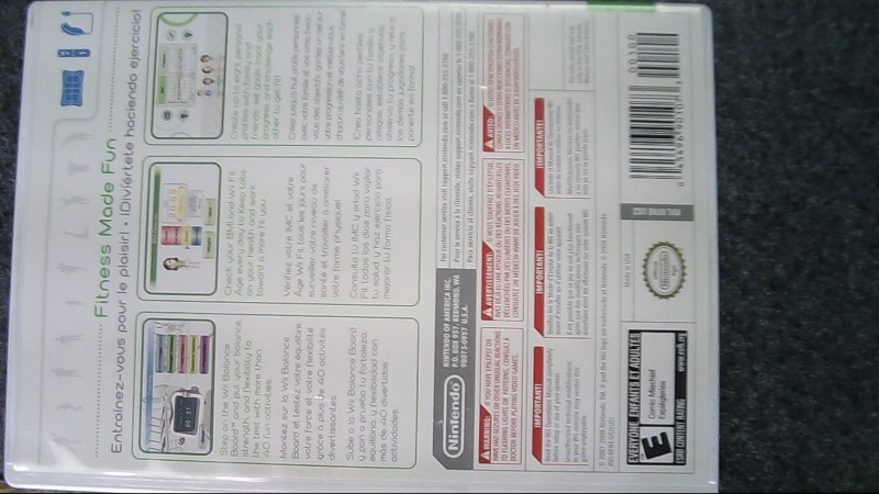 NINTENDO Nintendo Wii WII FIT -  GAME ONLY