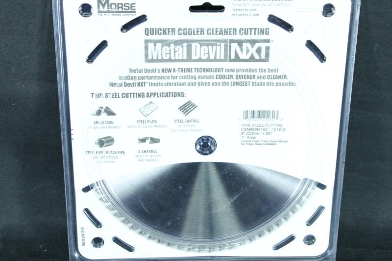 MK Morse CSM968NTSC Metal Devil NXT 9 in. 68T Thin Steel Cutting Blade